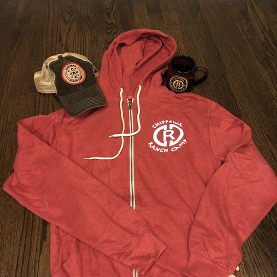CRC Red Zip Up Hoodie