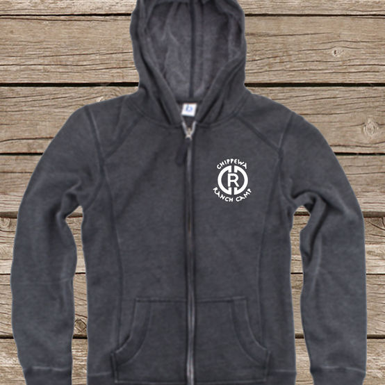 CRC Charcoal Zip Up Hoodie